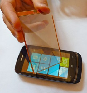 Self-charging-cell-phone-screens